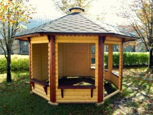 pavillon gloriette 9,9 m2, chalets kota grillhote