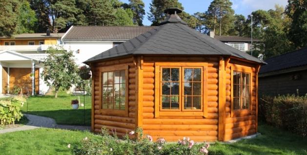 Pavillon gloriette grillhote chalets bois kota grill for Pavillon jardin bois