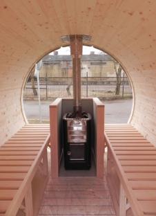 kota sauna tonneau interieur