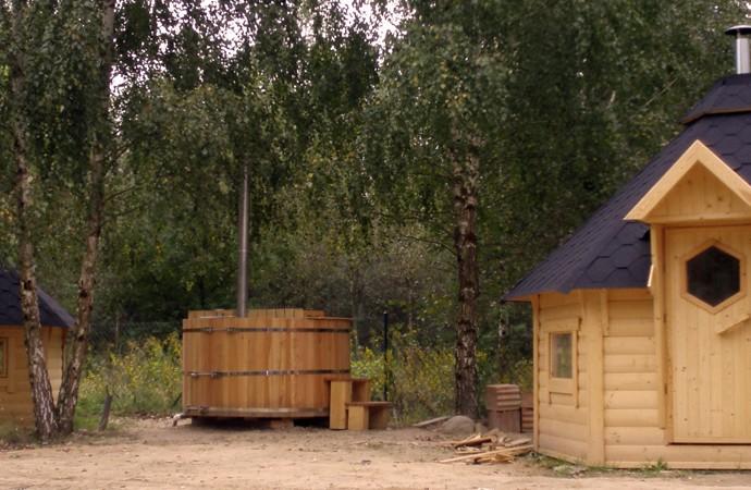 kota grill chalet bois finlandais
