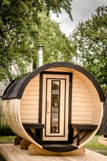 tonneau sauna façade 1