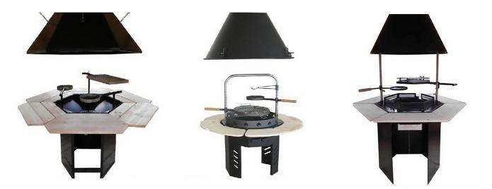 modèle de grill et cheminées pour Kota Grill